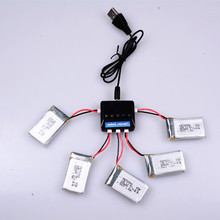 X5C Battery 5pcs batteries with 5in1 Charger With 680mAh 25C Upgrade Lipo Battery For X5sw X5C RC helicopter Battery Parts
