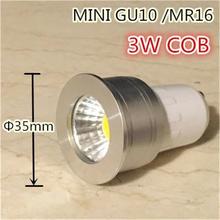 Buy free LED GU10 COB mini GU10 MR16 dimmable Warm White Spot Light Bulb Lamp 3W 35mm LED spot lamp replace halogen lamp for $2.31 in AliExpress store