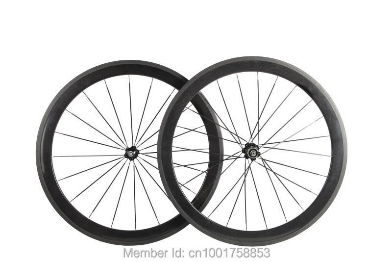 1pair New 700C 50mm clincher rim Road bicycle 3K UD 12K full carbon bike wheelsets aero spoke 20.5/ 23/ 25mm width Free shipping(China (Mainland))