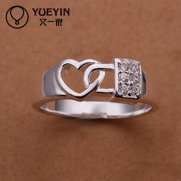 R231 Big Promotion Turkish Jewelry Lord Of The Ring Korean Couple, Engagement Rings For Women Silver Plated Jewellery Heart Gift(China (Mainland))
