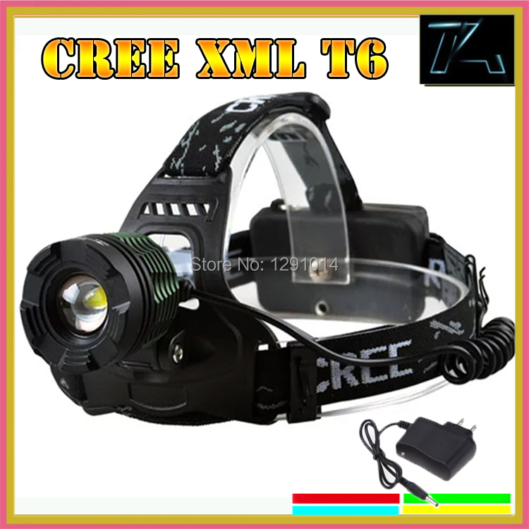 Гаджет  Free shipping Zoom Adjustable Focus CREE XM-L T6 LED Headlamp Headlight For Outdoors 18650 battery Charger Adapter wholesale None Свет и освещение