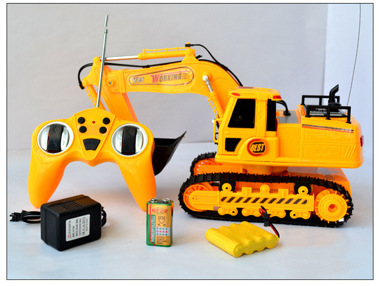 678-8035 RC Excavator Remote Control Toy Power Shovel Loader Digging Truck Excavating Machine Digger Engineering Van Radio Model(China (Mainland))