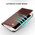 For Samsung Galaxy s6 s6 edge s6 edge plus case Qialino Real Leather Flip Wallet Ultra