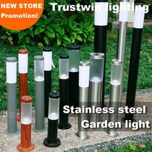 110V 220V 60cm 100cm 1M landscape post light waterproof IP65 stainless outdoor Garden lawn pillar light post lamp bollard light(China (Mainland))
