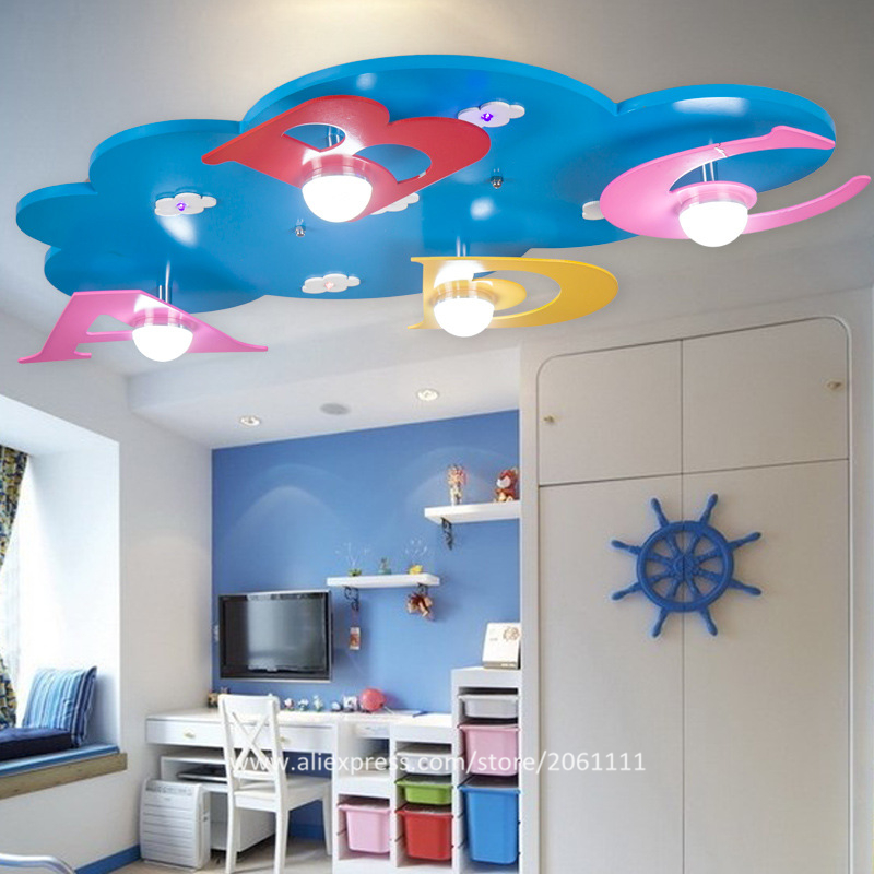 Creative ABCD Letters design lovely kids room lighting environmental eye protective baby boy nursery lamps bedroom ceiling light(China (Mainland))