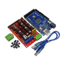 Buy Reprap Mendel Prusa 3D Printer Kit Mega 2560 R3 Development Board + RAMPS 1.4 Controller Control arduino Atmega2560 REV3 for $13.08 in AliExpress store
