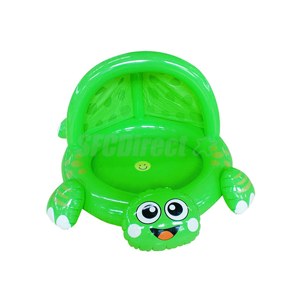 Inflatable Cartoon Frog Swimming Pool with Sunshade Baby Bath Play Accessory(China (Mainland))