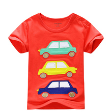 T-shirts for girls and boys brand short sleeve tops children car t shirts summer kikikids vetement enfant garcon clothing