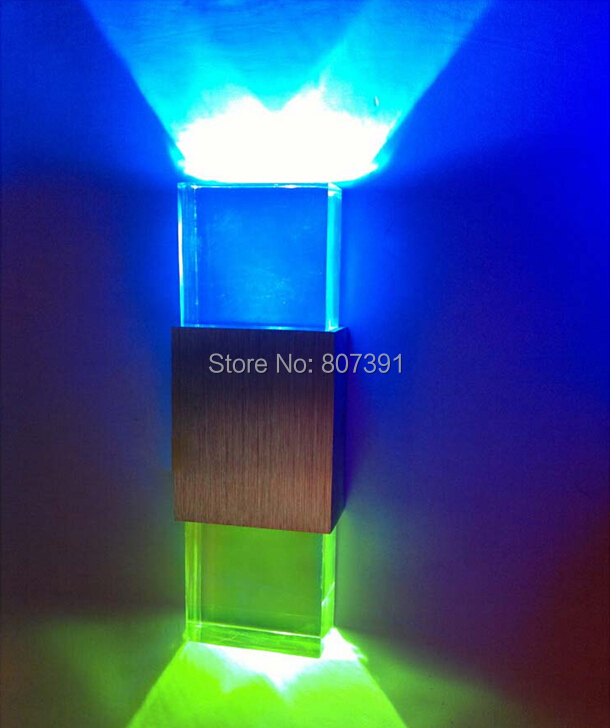 2 year warranty Acrylic 2W Led Wall Light UP & Down LED Stair Bedside Lamp Bedroom reading wall lamp decoration light Decoration(China (Mainland))