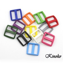22pcs/pack Mixed Color Plastic Slider Tri Glide Adjust Buckles For Dog Collar Harness Straps Webbing 26mm #A006(China (Mainland))