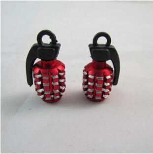 4Pcs/Lot Universal Aluminum Grenade shape Car Tyre Air Valve Caps, Bicycle Tire Valve Cap Car Wheel Styling Round Airtight Cover(China (Mainland))