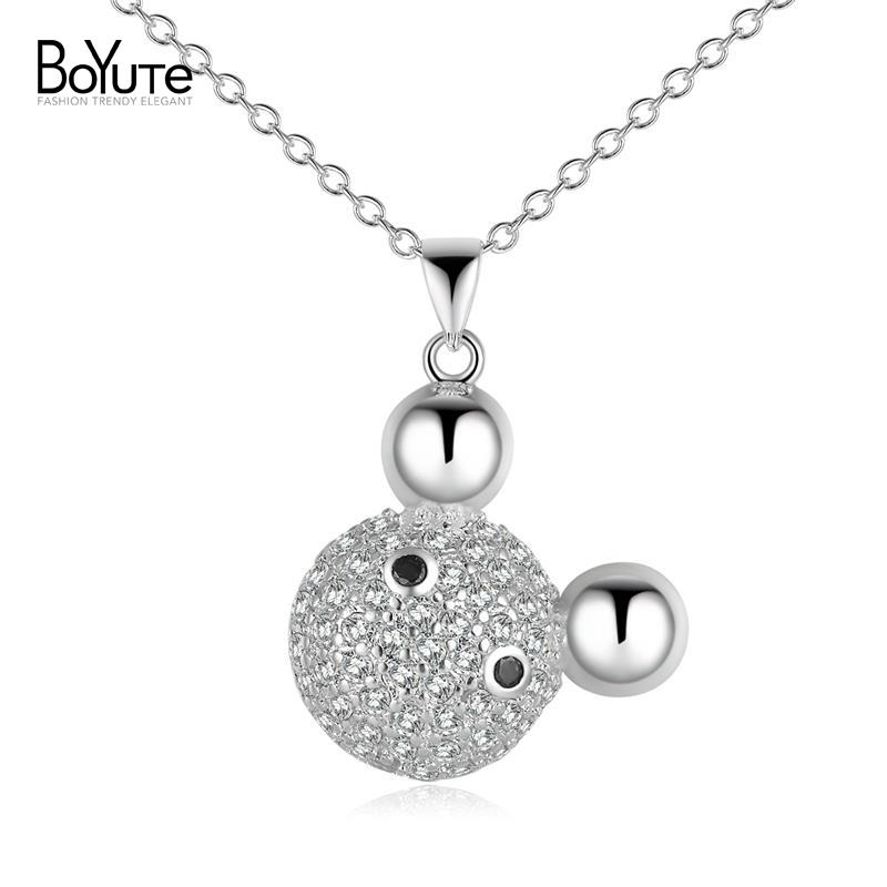 New Design Mickey Head Necklace Wholesale Silver Plated Chain Pendant Necklace Jewelry for Women(China (Mainland))