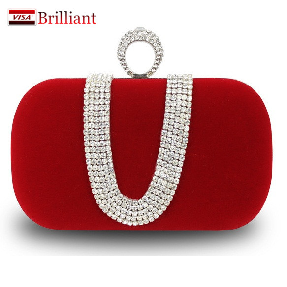 Women Clutch Bags Satin With Diamond Woman Ladies Girls Party Casual Bride Wedding Crystal Handbag purse Day Clutches 3 Colors(China (Mainland))