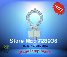 230V 800W bulb ring light stage light GX9.5 G6.35 Base halogen lamp bulb HX185 round(China (Mainland))