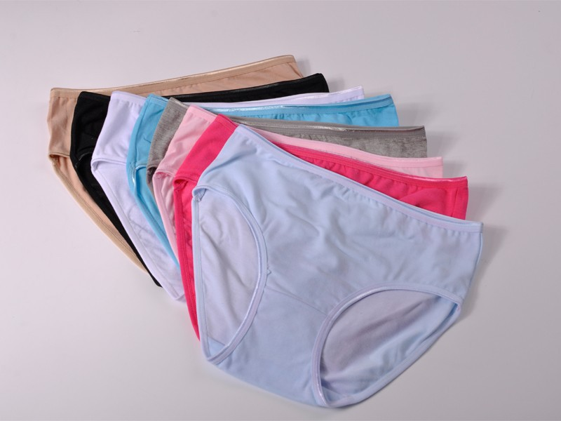 Anti Bacterial 95% Cotton Solid Sexy Briefs Women Underwear Natural Color Comfortable Women The Granny Panties 224(China (Mainland))