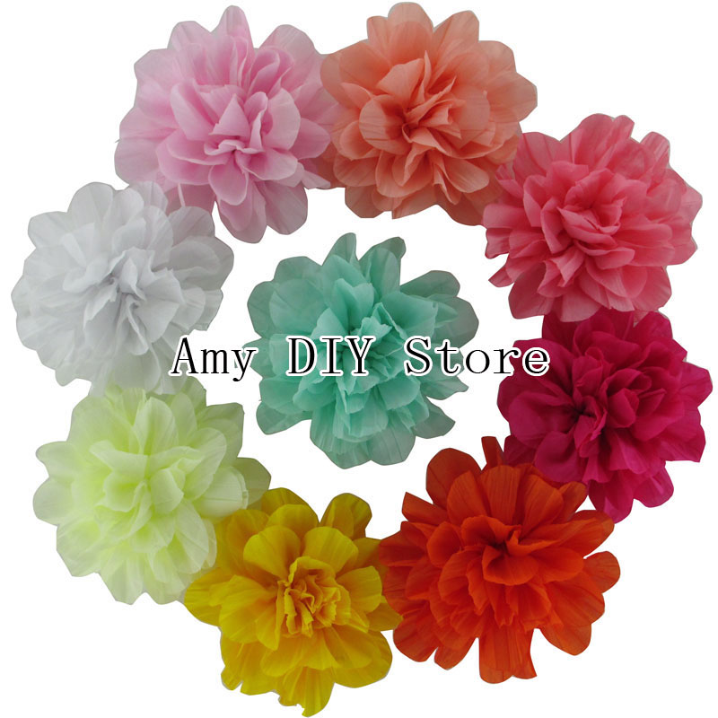 EMS Free Shipping!1000pcs/lot Wholesale 4 Soft Silk Flowers, Kids Boutique Fabric Hair Flowers Baby Girls Hair AccessoriesÎäåæäà è àêñåññóàðû<br><br>