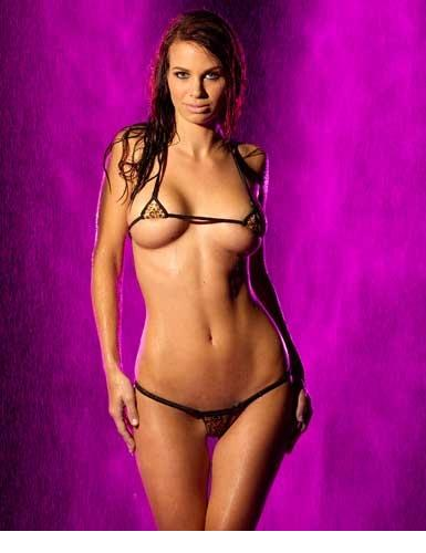 2015 Bikini Intimates Women Stripper Wear Bra & Brief Sets Cheetah Baby G-string With Top Sexy Lingerie Micro Panties Undies(China (Mainland))