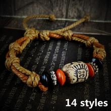 2016 Free Shipping New Hot Sale Fashion handmade tibetan vintage ceramic bracelets Accessories jewelry for women  men best  gift(China (Mainland))