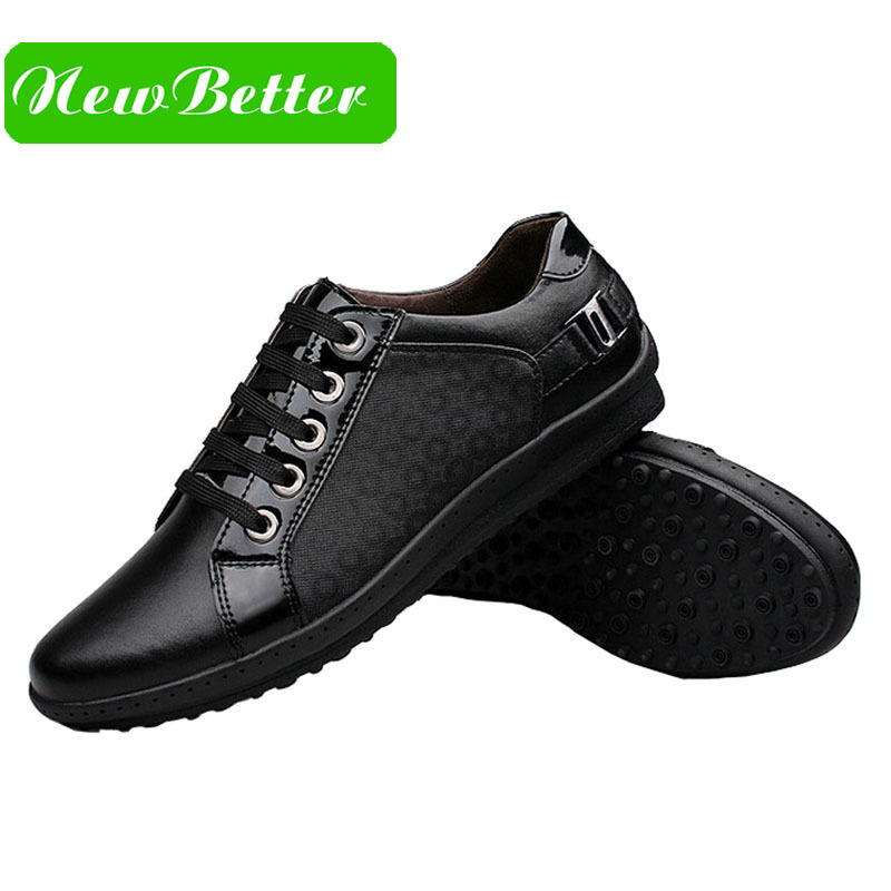 Гаджет  The trend of high-quality patent leather first layer of leather men
