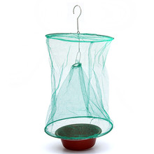 High Quality Hot Sale  Foldable Reusable Hanging Fly Catcher Killer Flies Flytrap Zapper Cage Net Trap(China (Mainland))