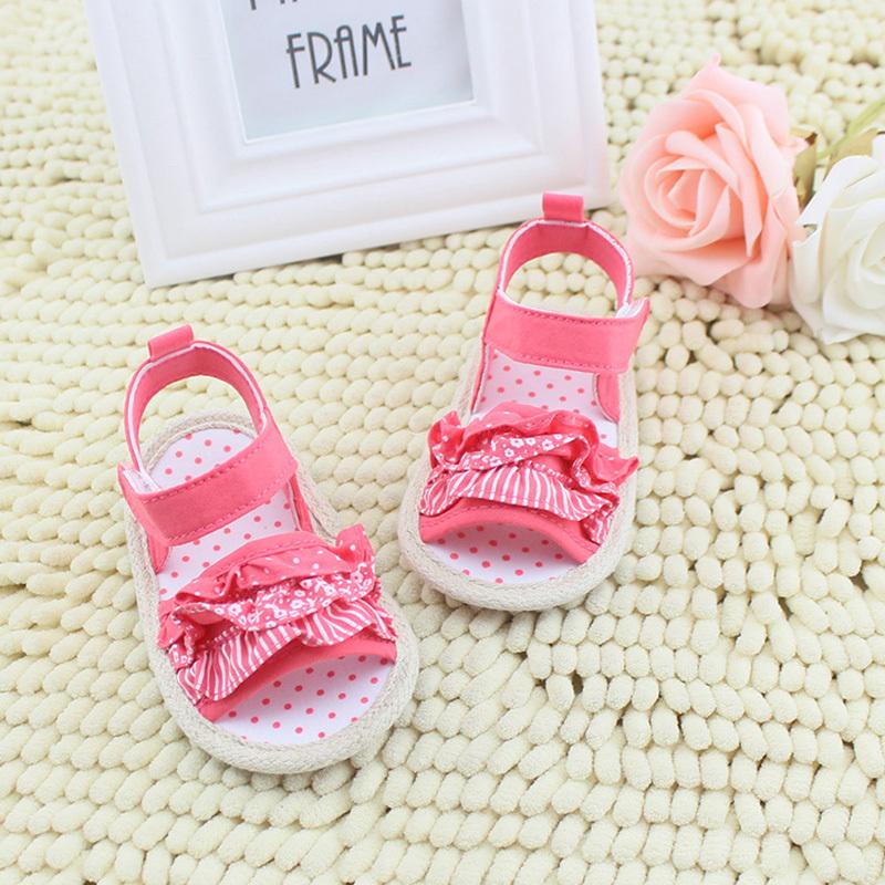 Princess Girl Summer Sandal Infant Baby Lace Soft Sole Non-slip Crib Shoes 0-18M