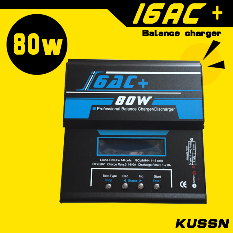 2016 NEW IMAX B6 I6AC+ 80W Balancer charger Lipo Nicd NiMh 2S/3S/4S/6S battery Charger servo motor 2 languages English/Deutsch(China (Mainland))