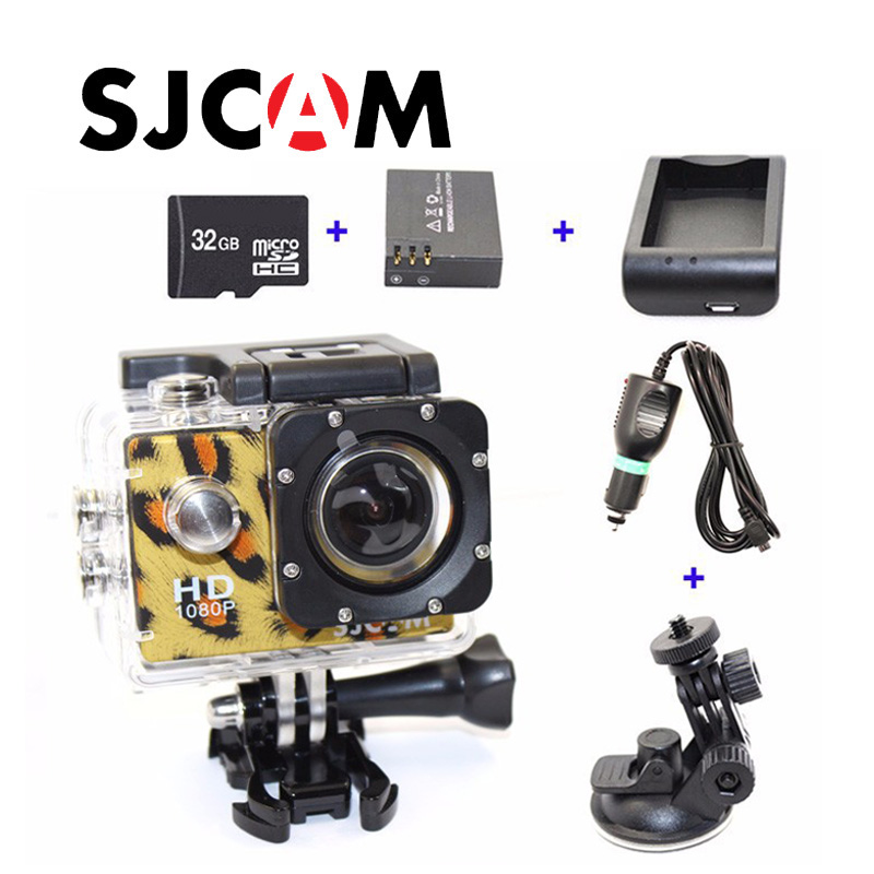 Free shipping!! SJ4000  Sport Action Camera+Car Charger+Holder+Battery Charger Adapter+Extra battery +32GB TF Card for DVCamera