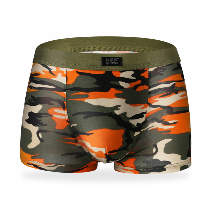 Free shipping New Breathable Modal Boxer Tide men Soldier Camouflage underwear Mens Underwear Plus Size Men's Boxer Shorts(China (Mainland))