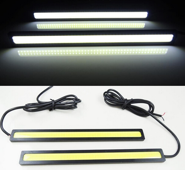 Car styling 1pcs 17cm 20W COB Chip 100%Waterproof Daytime Running Light 12V LED Universal Car work Parking lamp fog lamps DRL(China (Mainland))