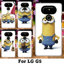 Cartoon Small Yellow People Mobile Phone Case For LG G5 H830 5.3 Inch Lovely MinionsCartoon Despicable Me Back Cover Skin Shell