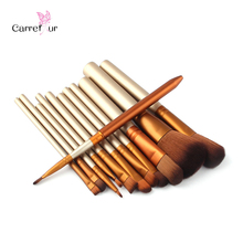 12 pz spazzole di trucco professionale nake make up brush set pincel maquiagem per la bellezza arrossisce contorno fondazione cosmetici(China (Mainland))