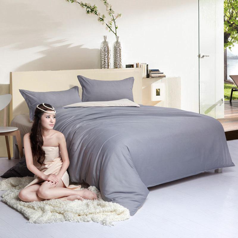 Grey Double Bed Covers : Big discount bedsheet grey microfiber bed set queen twin