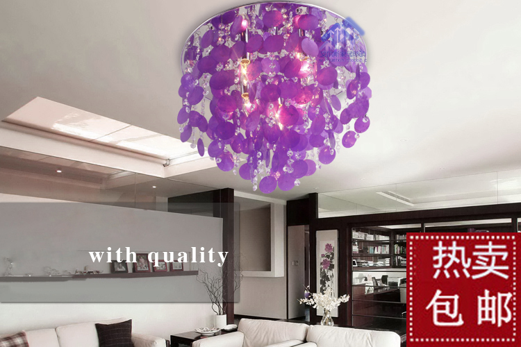 Lamp crystal natural shell ceiling light brief fashion romantic lighting lamps c6113(China (Mainland))