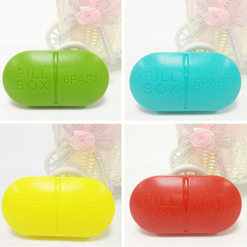 1 Pcs Medicine Box Storage Case Portable Tablets Small Kit Travel Pill Box candy colours(China (Mainland))