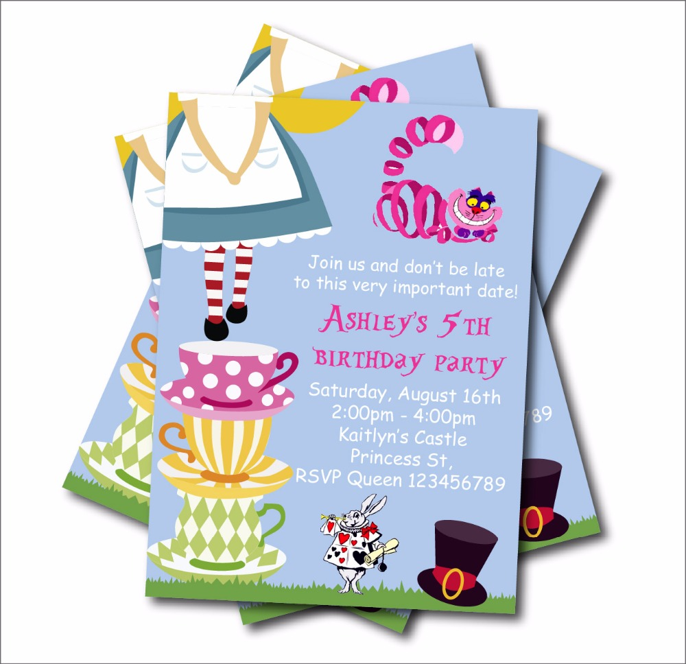 100+ [ Alice And Wonderland Baby Shower Invitations ] | Examples ...