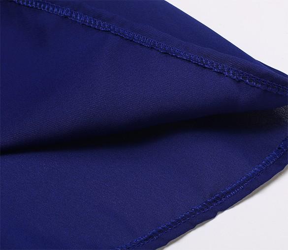 New Gift Fashion Sexy Chiffon Round Neck Sleeveless Backless Flower Solid A-line Short Dress LOVIW