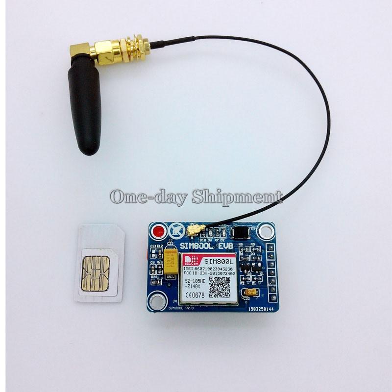 Гаджет  New Offer SIM800L GPRS GSM Module SIM Board Quadband Antenna for MCU Arduino None Электротехническое оборудование и материалы