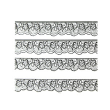 Newly Arrival Fashionable 3D Black Lace Nail Art Stickers Decals For Nail Decoration With Floral Design NA-0029(China (Mainland))