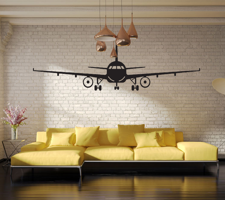 Home Art Decor Wall Decals ~ D airplane wall stickers muraux decor