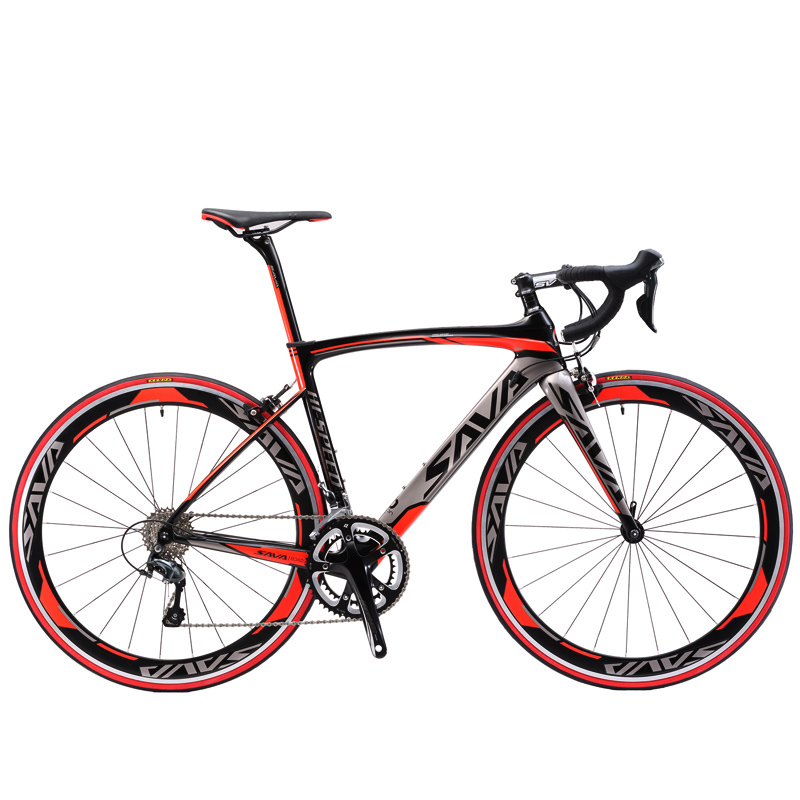 SAVA 700C Carbon Fiber Road Bike Complete Bicycle Carbon Cycling BICICLETTA Road Bike 18 Speed Bicicleta with Double V Brake(China (Mainland))