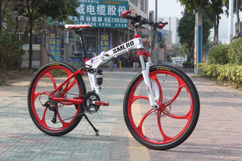 26 inch tire middle&high grade 27 Speed Mountain bike Magnesium Road bicycle folding bicycle made of Aluminium Alloy(China (Mainland))