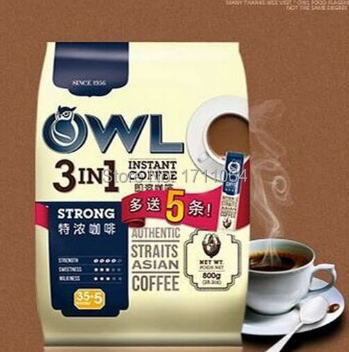 Owl owl coffee espresso instant coffee three in 800g40 small bag