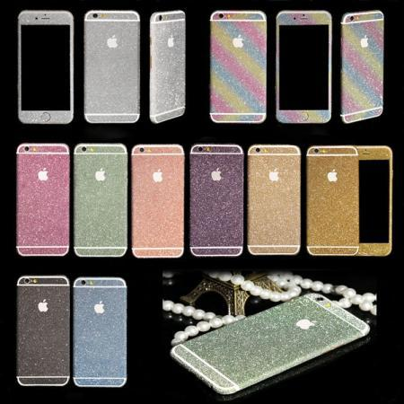1xNew shining Diamond Glitter Bling Decals/Sticker/protector case skin flim sticker for iPhone 5/5s/5c(China (Mainland))