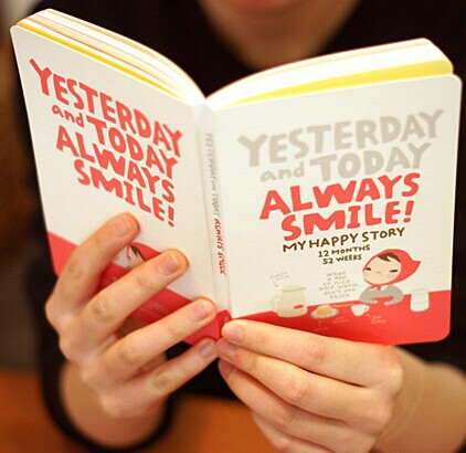 Cute Notebook Red Hat Girl Agenda Week Plan Travel Diary Day Planner Journal Record Stationery Office School Student This(China (Mainland))