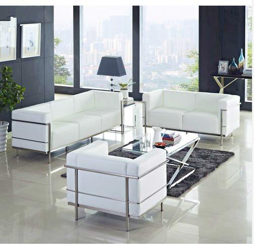Le Corbusier LC3 1,2,3 seat sofa set,LC3 sofa set.modern living room sofa,fashion desigb leather sofa(China (Mainland))