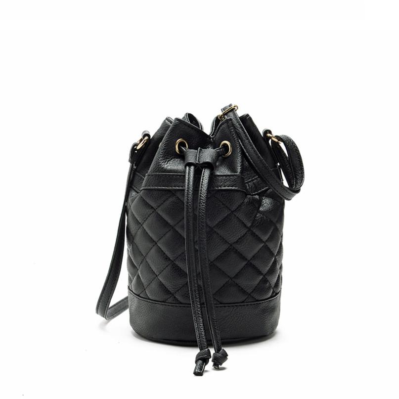 Modern Women Leather Quilted Handbag Bucket Shoulder Messenger Bag Tote Satchel Jn7(China (Mainland))