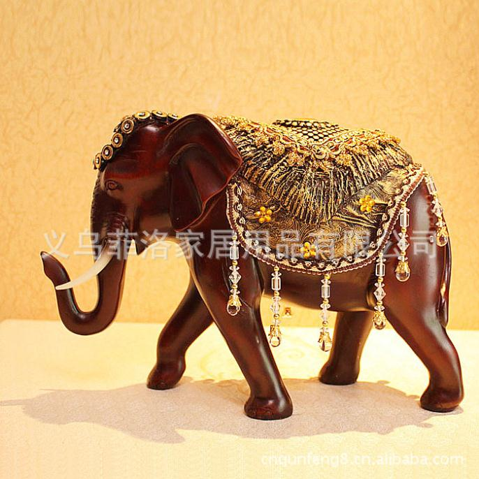 resin minnie Southeast Asia style town house feng shui elephant lucky elephant furnishing articles of resin resin crafts(China (Mainland))