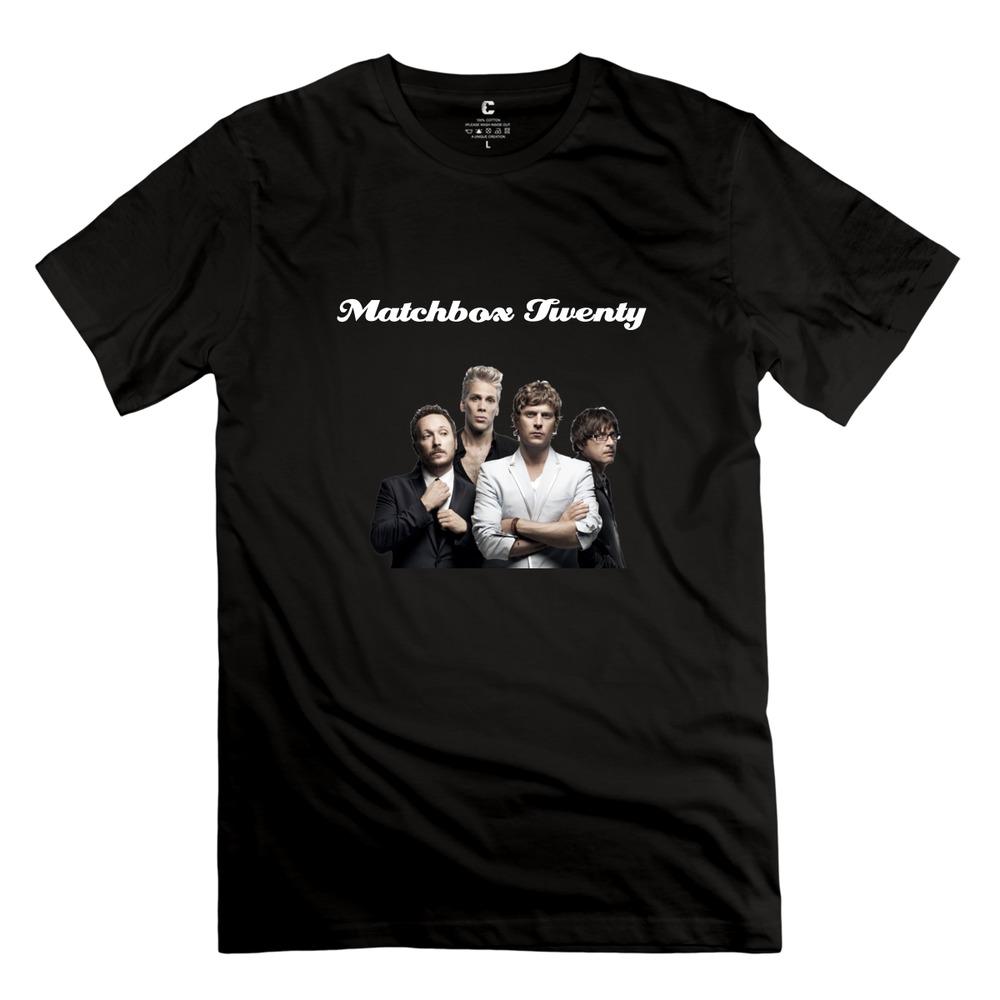 Hot sale Matchbox Twenty t shirts street o-collar mens birthday t shirt for men(China (Mainland))