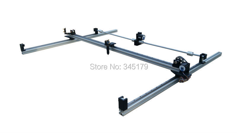 1280 DIY assembly Co2 laser engrave machine . linear guide .laser machine install Component and laser part(China (Mainland))