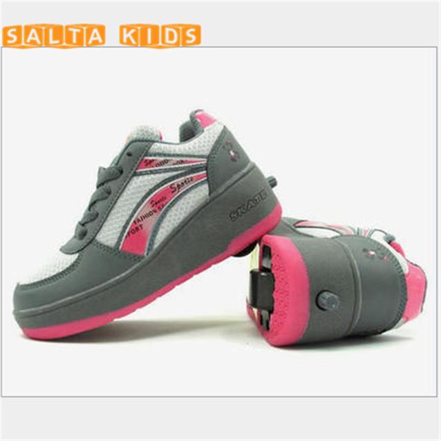 2016 Insole20-24cm heelies Для Детские роликовые обувь для детей rollerskate колеса ...